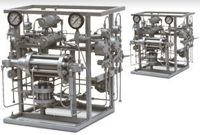 Multihead Gas Driven Diaphragm Pumps